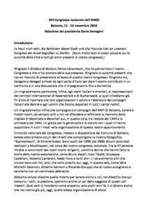 La relazione di Dario Venegoni al Congresso